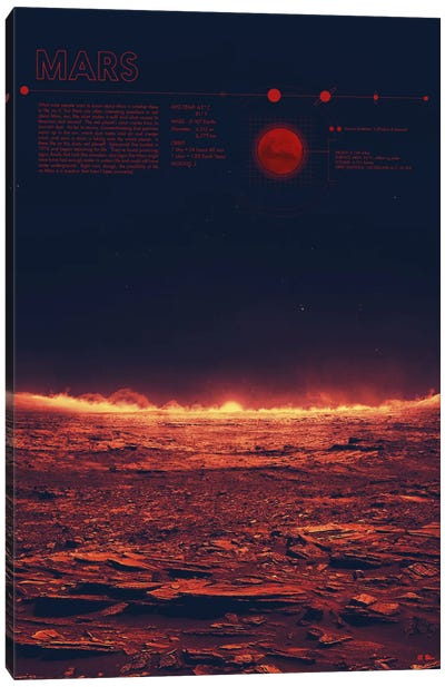 Mars Canvas Art Print