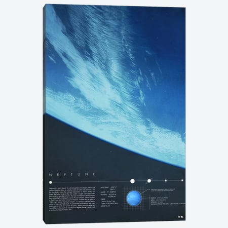Neptune Canvas Print #DES19} by 2046 Design Canvas Print