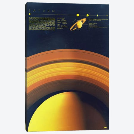 Saturn Canvas Print #DES20} by 2046 Design Canvas Wall Art