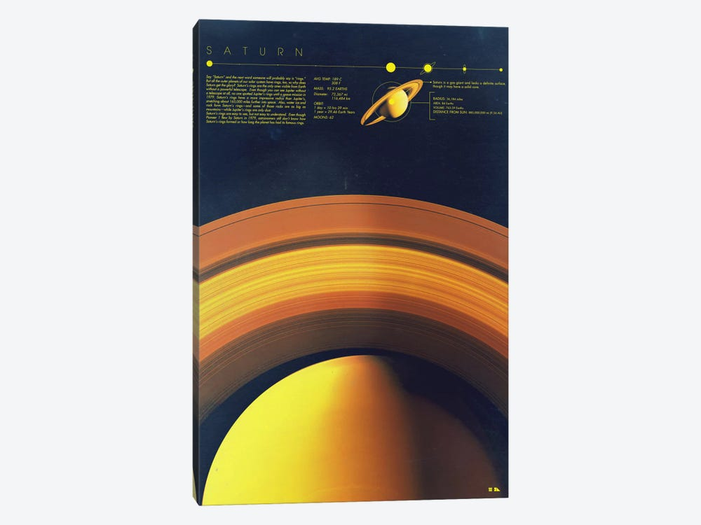 Saturn by 2046 Design 1-piece Canvas Wall Art
