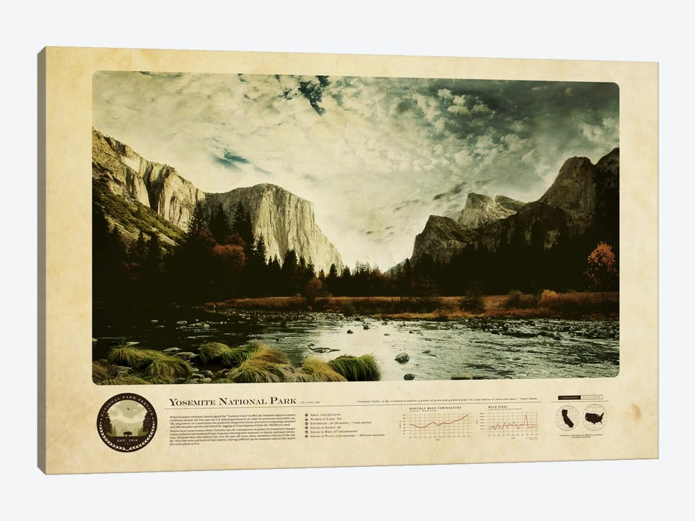 Yosemite National Park by 2046 Design 1-piece Canvas Art Print