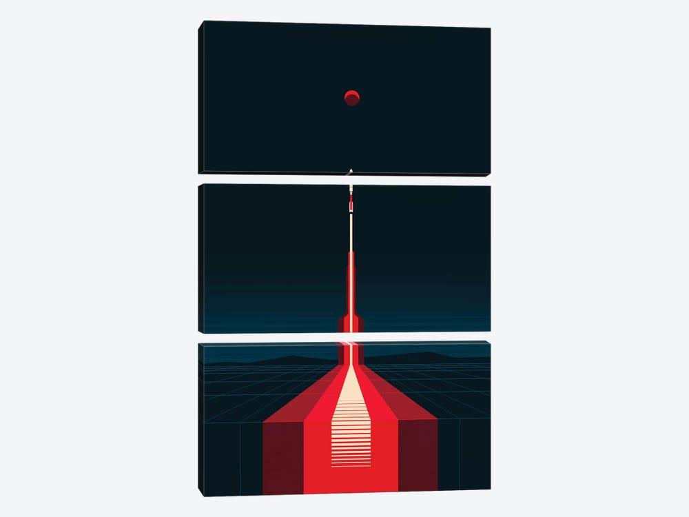 Lift Off by 2046 Design 3-piece Canvas Art Print