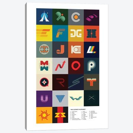 Science Alphabet Canvas Print #DES36} by 2046 Design Canvas Art