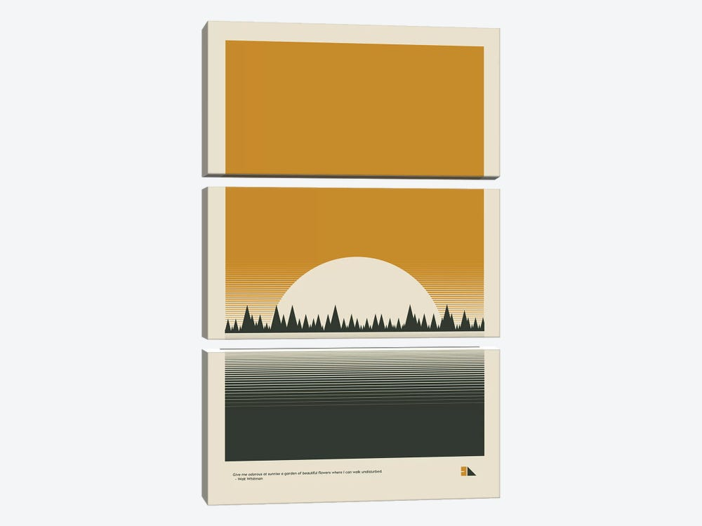 Sunset by 2046 Design 3-piece Art Print