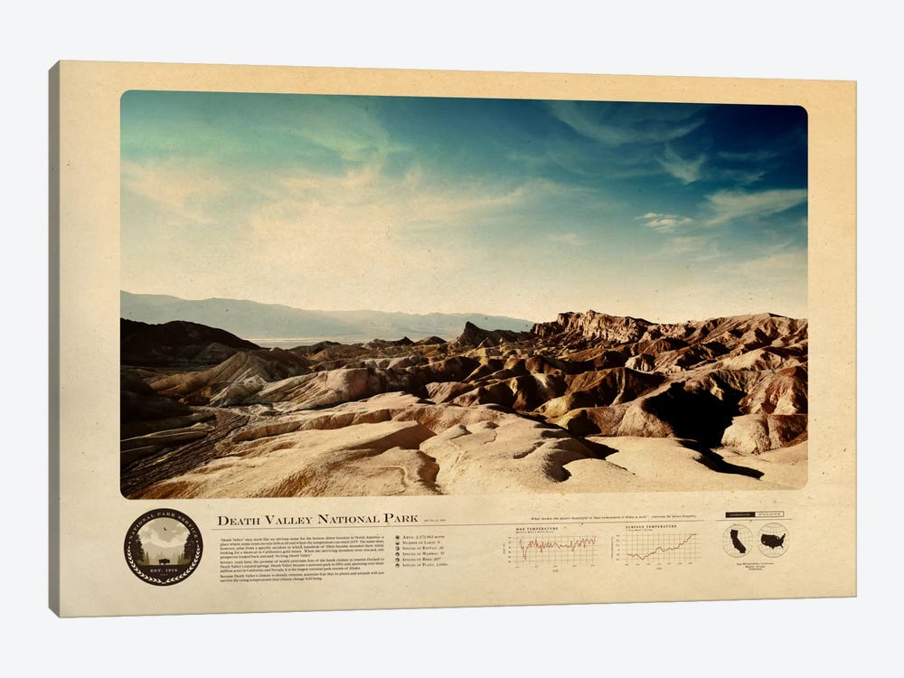 Death Valley National Park by 2046 Design 1-piece Canvas Print