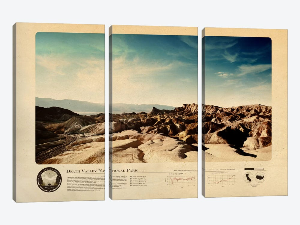 Death Valley National Park by 2046 Design 3-piece Art Print