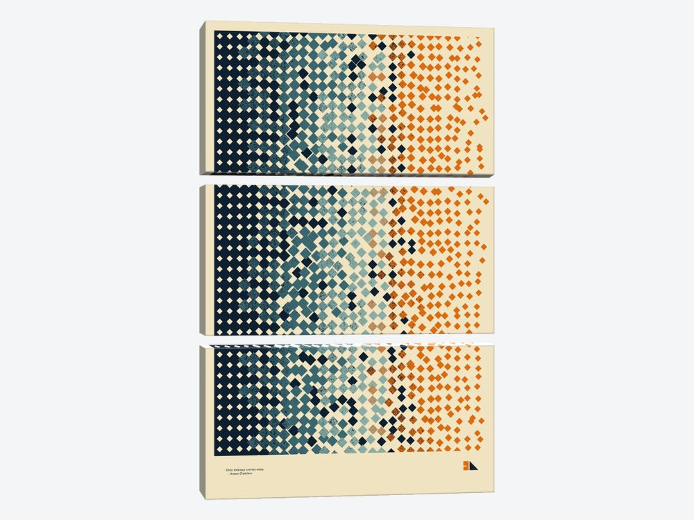 Entropy by 2046 Design 3-piece Canvas Art