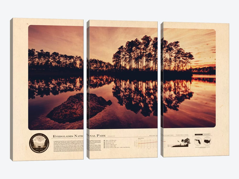 Everglades National Park by 2046 Design 3-piece Canvas Print