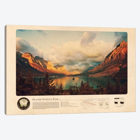 Glacier National Park Canvas Print #DES9} by 2046 Design Canvas Print