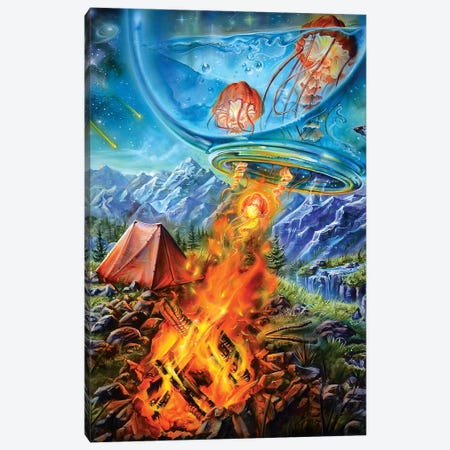Camping Trip Canvas Print #DET10} by Derek Turcotte Canvas Wall Art