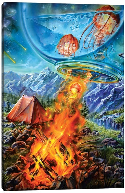 Camping Trip Canvas Art Print
