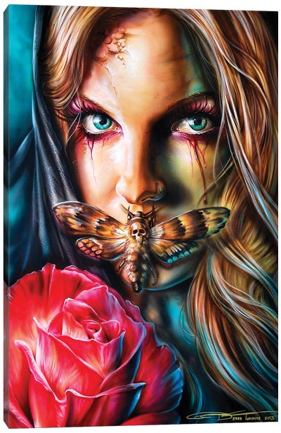 Deathmoth Canvas Art Print