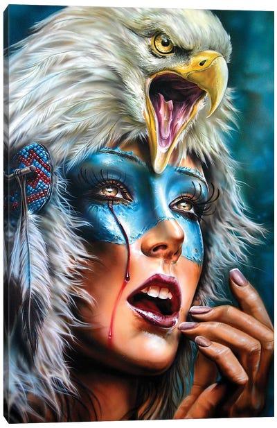 Eagle Spirit Hood Canvas Art Print