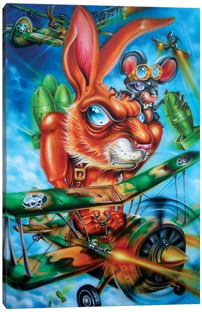 Air Battle Canvas Art Print
