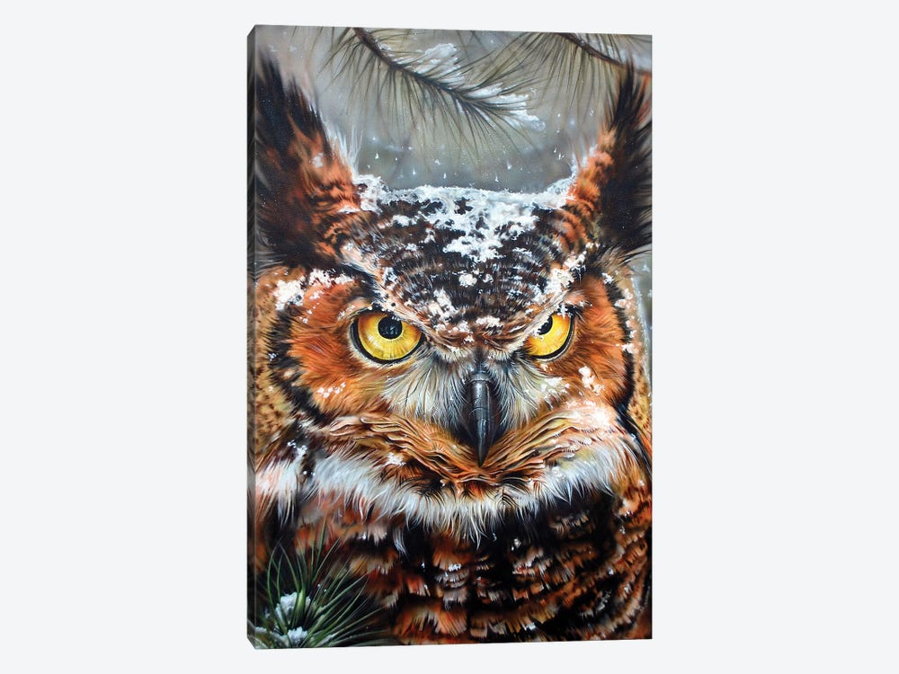Great Horned 2 1-piece Canvas Art