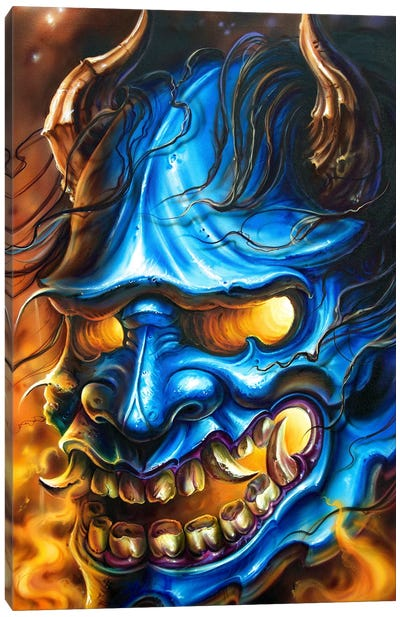 Hannya Mask Canvas Art Print