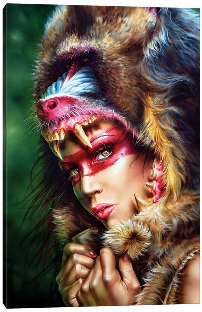 Huntress Mandrill Canvas Art Print