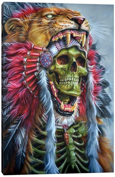 Lion Warrior Canvas Art Print