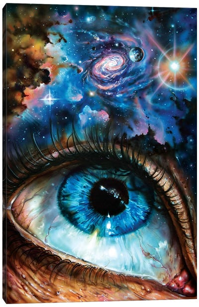 Looking At The Cosmos Canvas Art Print