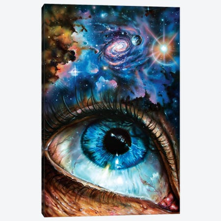 Looking At The Cosmos Canvas Print #DET34} by Derek Turcotte Art Print