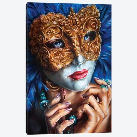 Masquerade  Canvas Print #DET36} by Derek Turcotte Art Print