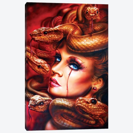 Medusa Canvas Print #DET37} by Derek Turcotte Canvas Print