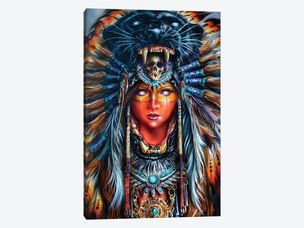 Aztek Huntress by Derek Turcotte 1-piece Canvas Wall Art