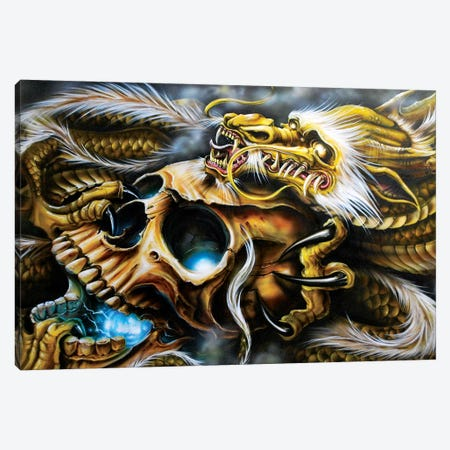 Quest Of The Golden Dragon Canvas Print #DET42} by Derek Turcotte Canvas Art Print