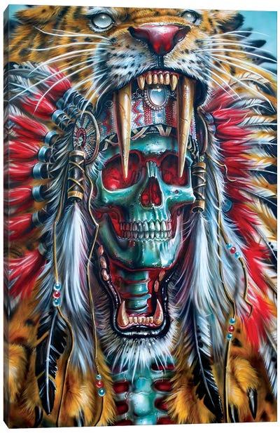 Sabertooth Warrior Canvas Art Print