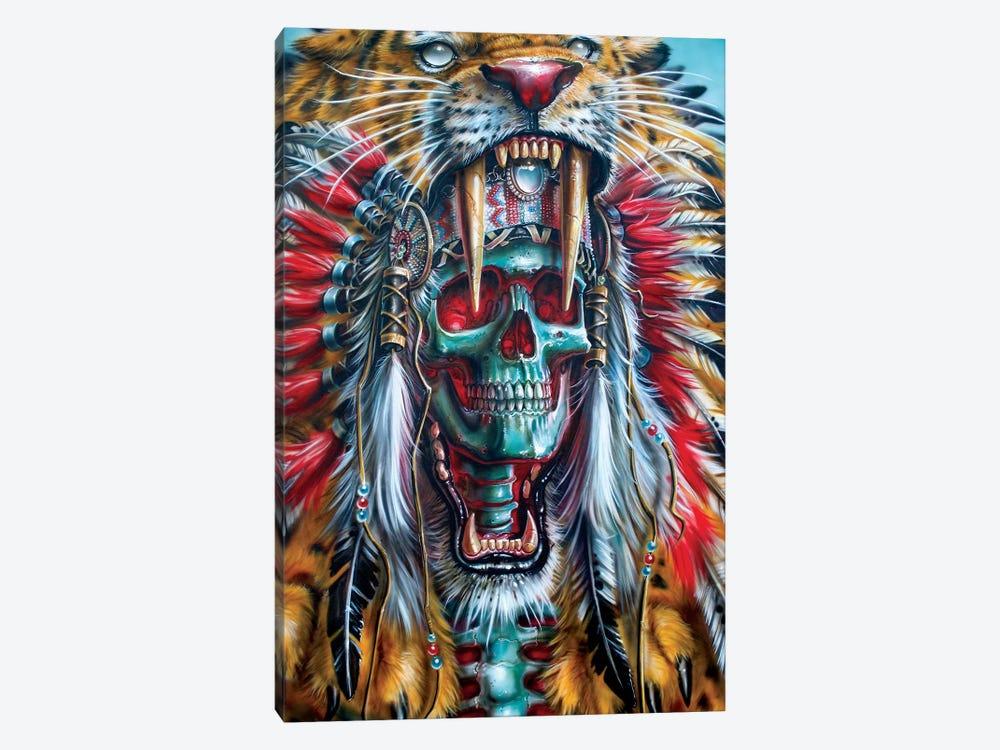 Sabertooth Warrior by Derek Turcotte 1-piece Canvas Wall Art