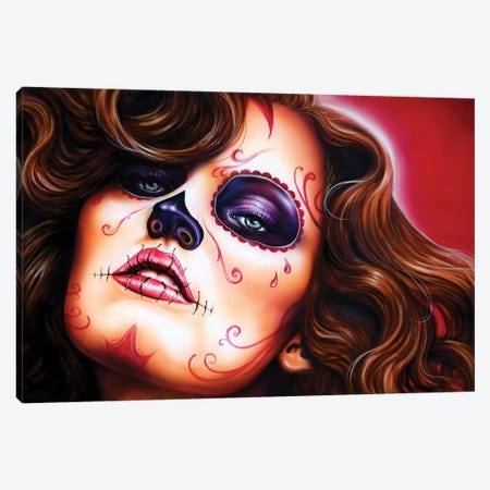 Skull Girls II Canvas Print #DET45} by Derek Turcotte Canvas Art