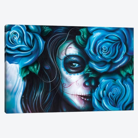 Skull Girls III Canvas Print #DET46} by Derek Turcotte Canvas Wall Art