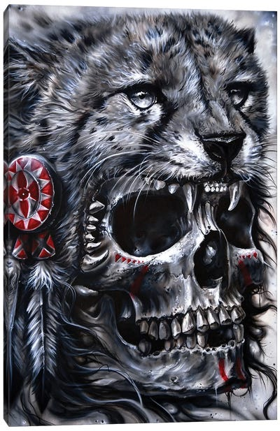 Skull Leopard Canvas Art Print