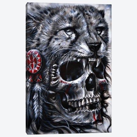 Skull Leopard Canvas Print #DET47} by Derek Turcotte Canvas Art