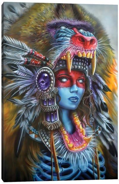 Babboon Huntress Canvas Art Print