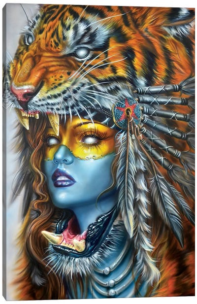 Tiger Huntress I Canvas Art Print