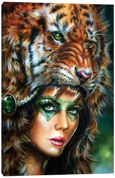 Tiger Huntress II Canvas Art Print