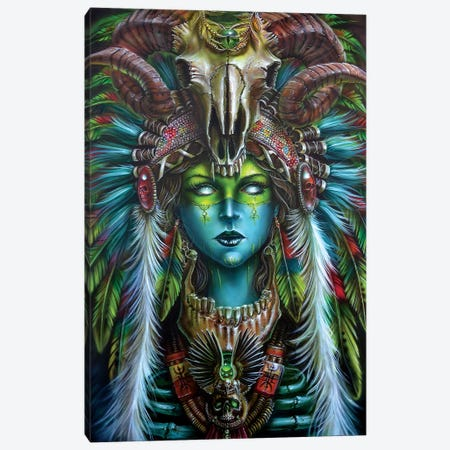 Voodoo Spirit Huntress Canvas Print #DET56} by Derek Turcotte Canvas Art Print