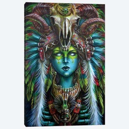 Voodoo Spirit Huntress Canvas Print #DET56} by Derek Turcotte Canvas Art Print
