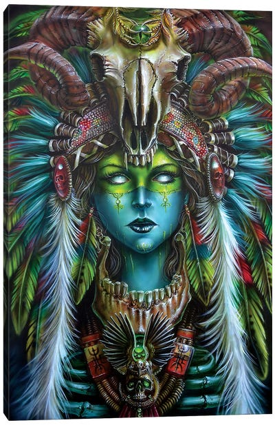 Voodoo Spirit Huntress Canvas Art Print