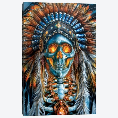 Warrior Chief Canvas Print #DET57} by Derek Turcotte Canvas Print