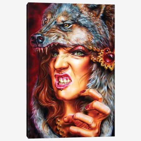 Wolf Girl Canvas Print #DET58} by Derek Turcotte Canvas Art