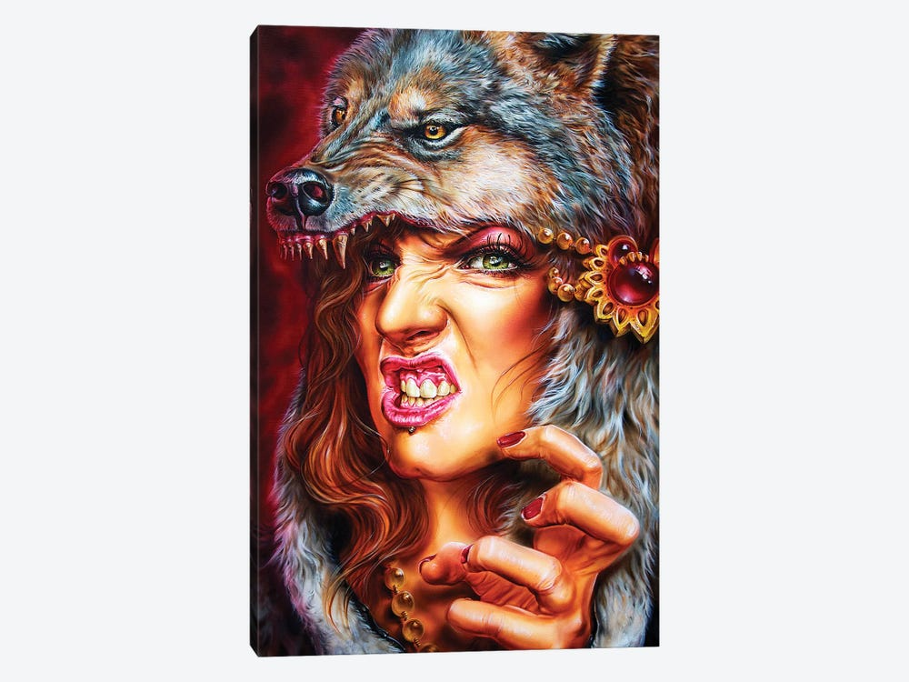 Wolf Girl by Derek Turcotte 1-piece Canvas Artwork