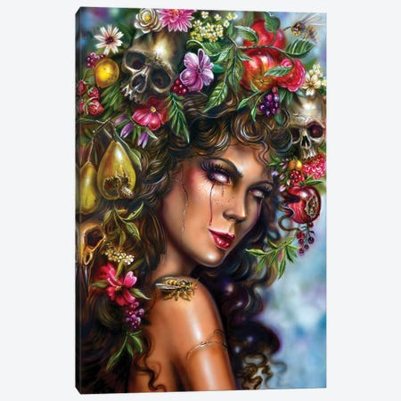 Fruit Girl - Aurumn Possession Canvas Print #DET61} by Derek Turcotte Art Print