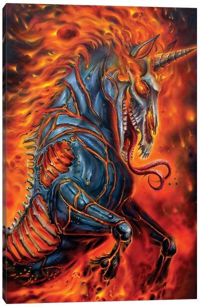Metal Unicorn Canvas Art Print