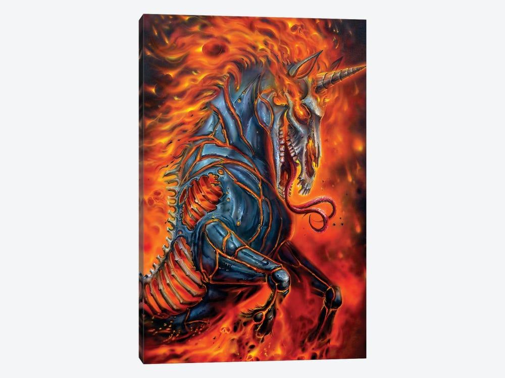 Metal Unicorn by Derek Turcotte 1-piece Art Print