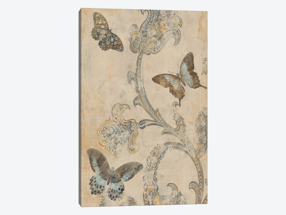 Papillion Decoratif I by Deborah Devellier 1-piece Canvas Print
