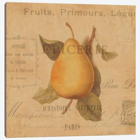 Poire Canvas Print #DEV25} by Deborah Devellier Canvas Artwork