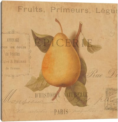 Poire Canvas Art Print