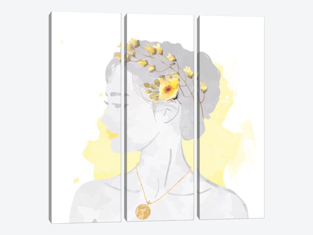 Blissful Goddess by 5by5collective 3-piece Art Print